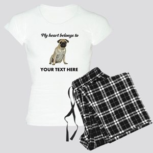 Personalized Pug Dog Women's Light Pajamas