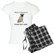 Personalized Pug Dog Women's Light Pajamas