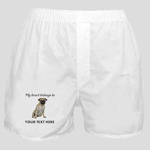 Personalized Pug Dog Boxer Shorts