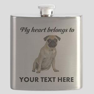 Personalized Pug Dog Flask