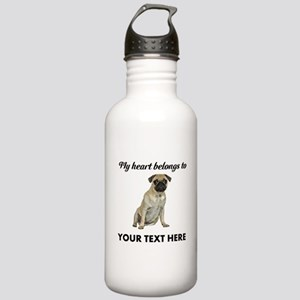 Personalized Pug Dog Stainless Water Bottle 1.0L