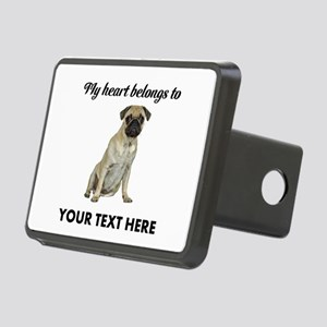 Personalized Pug Dog Rectangular Hitch Cover