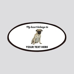 Personalized Pug Dog Patch
