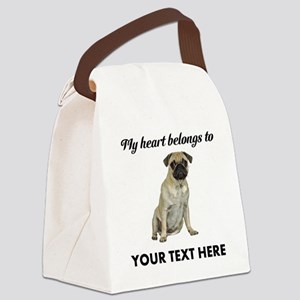 Personalized Pug Dog Canvas Lunch Bag