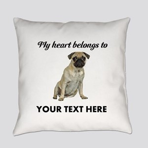 Personalized Pug Dog Everyday Pillow