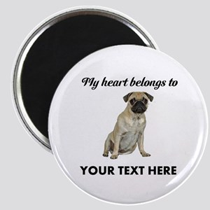 Personalized Pug Dog Magnet