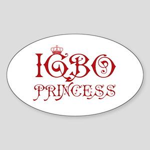 Igbo Princess Oval Sticker