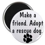 Adopt A Rescue Dog Magnet