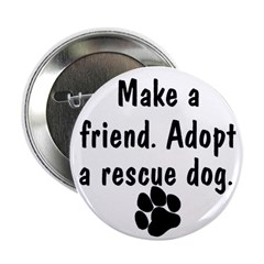 Adopt A Rescue Dog Button