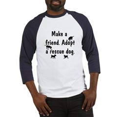 Adopt A Rescue Dog Baseball Jersey
