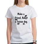 Adopt A Rescue Dog Women's T-Shirt