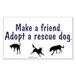 Adopt A Rescue Dog Rectangle Sticker