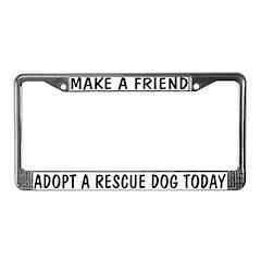 Adopt A Rescue Dog License Plate Frame
