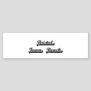 Bristol Town Beach Classic Retro De Bumper Sticker