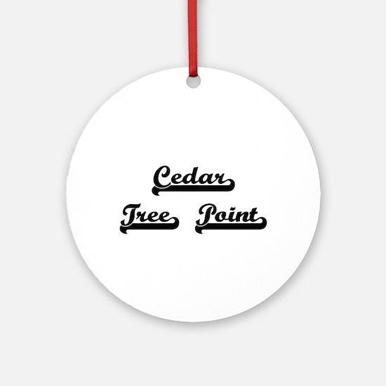 Cedar Tree Point Classic Retro De Ornament (Round)