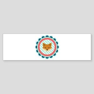 Baby Fox Patch Bumper Sticker