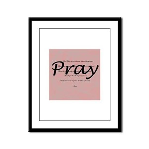 Our Father Prayer Framed Panel Print