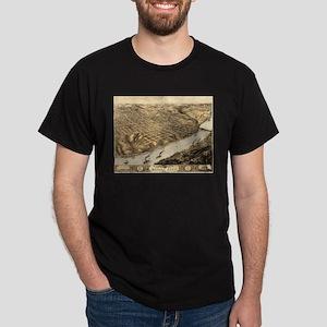 Vintage Pictorial Map of Kansas City (1869 T-Shirt