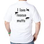 I Love Rescue Mutts Golf Shirt