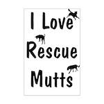 I Love Rescue Mutts Mini Poster Print