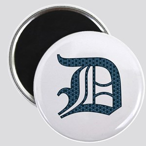 D letter monogram Old english text Magnet