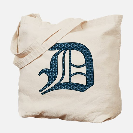 D letter monogram Old english text Tote Bag