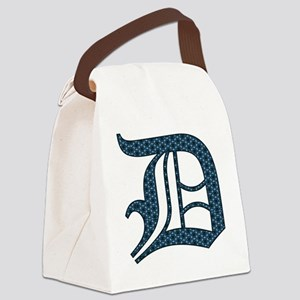 D letter monogram Old english tex Canvas Lunch Bag