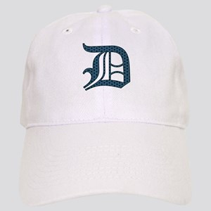 D letter monogram Old english text Hat