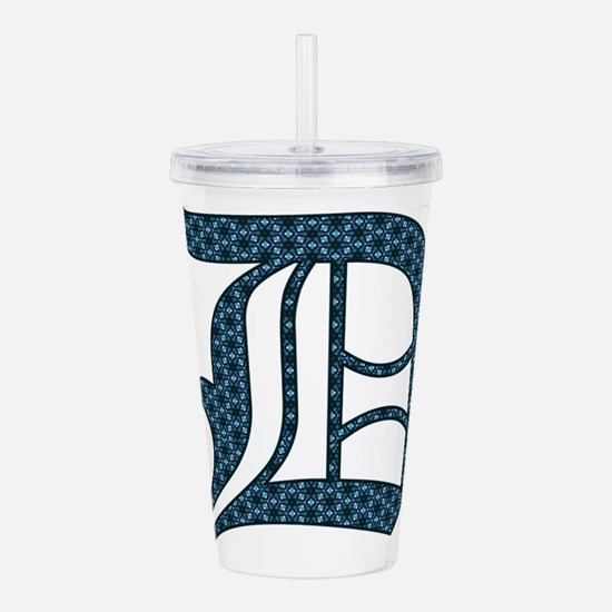 D letter monogram Old english text Acrylic Double-