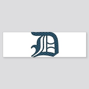 D letter monogram Old english text Bumper Sticker