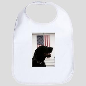 All-American Black Labrador Retriever Bib