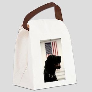 All-American Black Labrador Retri Canvas Lunch Bag
