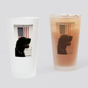 All-American Black Labrador Retriev Drinking Glass