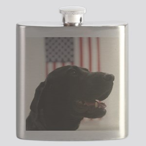 All-American Black Labrador Retriever Flask