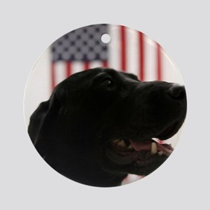 All-American Black Labrador Retri Ornament (Round)