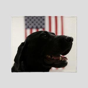 All-American Black Labrador Retrieve Throw Blanket