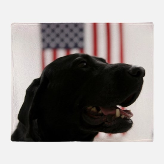 All-American Black Labrador Retrieve Throw Blanket