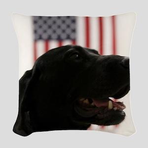 All-American Black Labrador Re Woven Throw Pillow