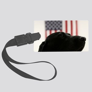 All-American Black Labrador Retr Large Luggage Tag