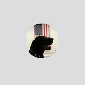 All-American Black Labrador Retriever Mini Button