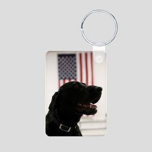 All-American Black Labrador Retriever Keychains