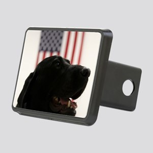 All-American Black Labrado Rectangular Hitch Cover