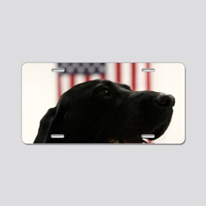 All-American Black Labrador Aluminum License Plate