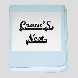 Crow'S Nest Classic Retro Design baby blanket