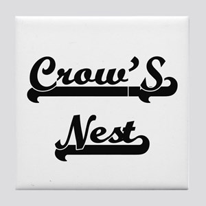 Crow'S Nest Classic Retro Design Tile Coaster