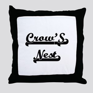 Crow'S Nest Classic Retro Design Throw Pillow