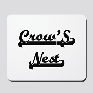 Crow'S Nest Classic Retro Design Mousepad