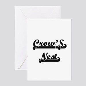 Crow'S Nest Classic Retro Design Greeting Cards