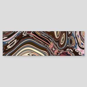 brown Chocolate swirls Bumper Sticker