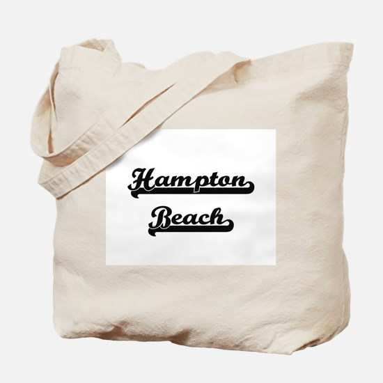 Hampton Beach Classic Retro Design Tote Bag